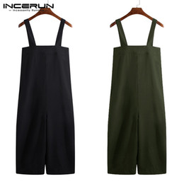 Wide Legs Jumpsuits Australia - High Street 2019 Male Jumpsuits Cargo Baggy Jumpsuits Male Baggy Playsuits Men Wide Legs Pants Loose Overall Coveralls 5XL Big