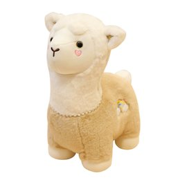 stuffed animals fox NZ - 25cm Llama Stuffed Animal Giant Big Huge Alpaca Plush Toys Plushie Samll Soft Toys Gift Doll Baby Cuddly Cute Pink Price
