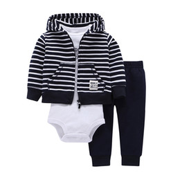 $enCountryForm.capitalKeyWord UK - Baby Boy Girl Clothes 100% Cotton Bebes Baby Clothing Three-piece Normal Size Bodysuit & Pants Set Kids Cardigan Clothes Sets J190520