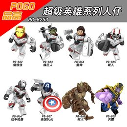 hulkbuster toys Canada - Super Heroes The Avengers 4 Endgames Thanos Hulkbuster Venom Groot Aleskse Model For Kids Toys DIY PG8253 zdl624.