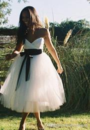 $enCountryForm.capitalKeyWord Australia - 2019 New A Line Beach Wedding Dress Charming Sweetheart Tea Length Bridal Gown Custom Made Plus Size
