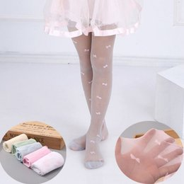 Years girls dressing stYle online shopping - 2019 summer baby girl pantyhose bow knot transparent thin sheer stocking children ballet dance dress for girl years