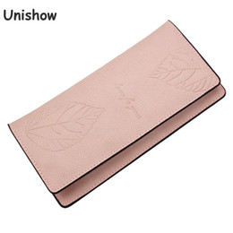 $enCountryForm.capitalKeyWord Australia - Unishow Engraved Leaf Women Wallet Female Thin Wallet Brand Designed Women Phone Purse Lady Card Holders