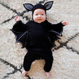 Toddler Sets Clothing NZ - good quality Toddler Halloween clothes Newborn Baby Boys Girls Clothing Set 2PCs Cosplay Costume Romper Hat Outfits Set roupa infantil