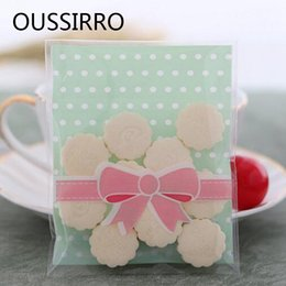 $enCountryForm.capitalKeyWord Australia - 25Pcs Bow dot Kawaii Cookies Biscuit Packaging Bag Plastic Self Adhesive Gift Bags For Cake Candy Christmas wedding Party Favors
