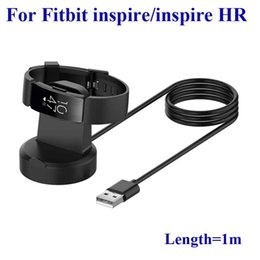 Wholesale For Firbit inspire smart Bracelet inspire HR smart Watch Replacement USB Charging Base Station Dock Charger Cable High Qua Free DHL Shipping