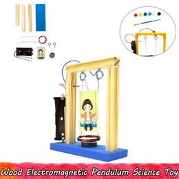 Holz Elektromagnetische Pendel Experiment Wissenschaft Spielzeug DIY Montage Lernspielzeug für Kinder Verbessern Gehirn Fähigkeit Geschenke im Angebot