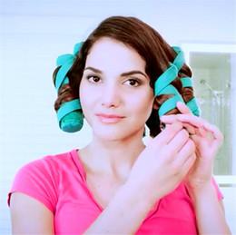 $enCountryForm.capitalKeyWord Australia - 8pcs Hair Curlers Sleep Styler Kit Long Cotton Curlers DIY Styling Tools Create Glamorous Hairstyle Portable