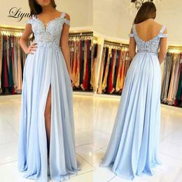 $enCountryForm.capitalKeyWord UK - Square Collar Sheath Prom Dresses Tank Sleeve Backless Formal Floor Length Evening Party Gowns Liyuke