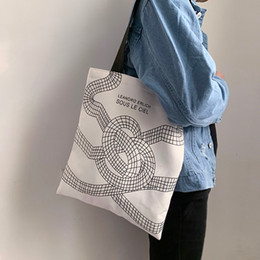 shopper bag tote Australia - Women's Canvas Shoulder Bags Woman Cotton Shopping Bags Soft Handbag Casual Cloth Tote Schoolgirl Bag Ladies Shopper #HY