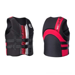 premium ball UK - Mens Vest Premium Fitness Equipments Fitness Supplies Neoprene Life Jacket Front Zipper 2 belts safety for water sports Womens Youth Life Ve