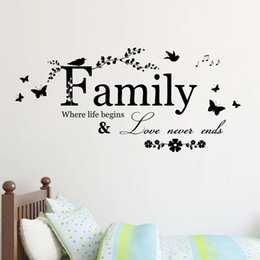 family quote decals Canada - Family Letter Quote Removable Vinyl Decal Art Mural Home Decor Wall Stickers