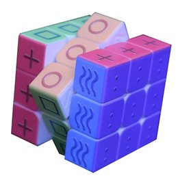 geometry puzzle UK - Geometry Color Magic Cube 3x3x3 Blind Braille Fingerprint Speed Puzzle Cube 3D Relief Educational Toys for Children Y200428