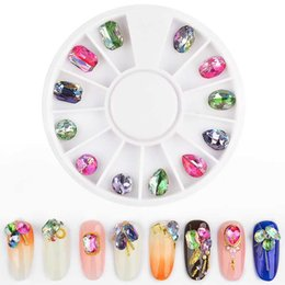 $enCountryForm.capitalKeyWord Australia - 1 Box Crystal AB Nail Rhinestones Mixed Designs Colorful 3D Glass Gems Glitter Nail Art Decorations Charm Manicure Accessories