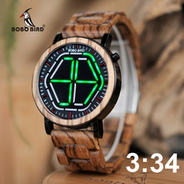 $enCountryForm.capitalKeyWord Australia - Bobo Bird Wood Digital Watch Men Erkek Kol Saati Night Vision Wooden Watches Led Time Display Relogio Masculino In Wood Gift Box Y19062004