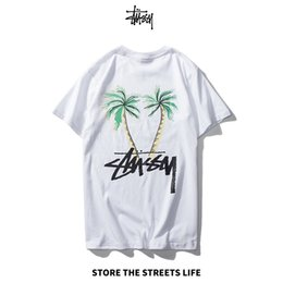 coconut tree t shirt UK - 2020 Brand Menswear luxury t-shirt High Quality Short Sleeve coed Coconut Tree Print Loose Comfort s-xxl