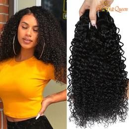 human hair weave natural color 2019 - qnew Arrival Indian Curly Hair Kinky Curly Virgin Hair Bundles 3pcs Indian Kinky Curly Human Hair Extensions cheap human