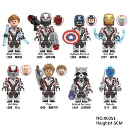 $enCountryForm.capitalKeyWord Australia - 8pcs lot Avengers 4 Super Heroes Black Widow Thor Iron Man Ant-Man minifigs Collection Toys Mini figures building blocks X0251