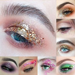 1 Bottle Mermaid Sequins Gel Glitter Eyeshadow Fashion Eyes Makeup Cosmetic Mixed Paillette Universal Face Body Hair Glitter Gel Eye Shadow Beauty & Health