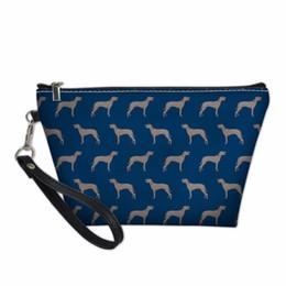 $enCountryForm.capitalKeyWord Australia - FORUDESIGNS New Printing Makeup Bags Weimaraner Cute Cosmetics Pouchs Illustration Pet Dog 3D Printed Trousse Maquillage Femme