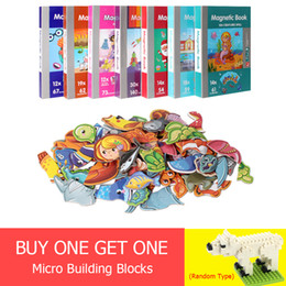 $enCountryForm.capitalKeyWord Australia - 7 Types Children's Intelligent Magnetic Book 3d Puzzles Jigsaw Brain Training Game Educational Toys For Kids Xmas Gift Q190530