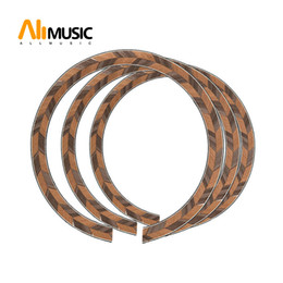 guitar soundhole 2020 - 10Pcs Acoustic Guitar Maple and Rosewood Soundhole Rosette Inlay Guitar Body Project Parts