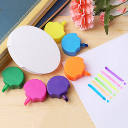 $enCountryForm.capitalKeyWord Australia - Petals Highlighter Flower Shape Highlighter Pen Markers Cute Fluorescent Watercolor Multi Colors Japanese Stationery