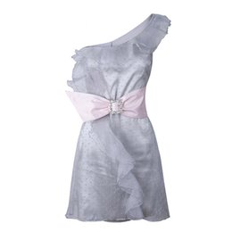 Chinese  Thailand popular summer 2019 spring summer cocktail party mesh ruffled bow fairy dress holiday elegant mini one shoulder dress manufacturers