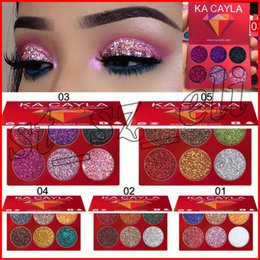 Rainbow coloR palette eyeshadow online shopping - KA CAYLA Mini Color Glitter Injections Pressed Glitters Single Eyeshadow Diamond Rainbow Make Up Cosmetic Eye shadow Palette