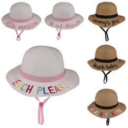 1ded9e4fdda62 Kids Bucket Hat Sun Hat Word Strawhat Sunhat Fishing Caps Baby Fisherman  Cartoon Kids Beach Basin