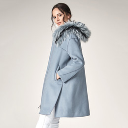 Really Dresses Australia - 2019 Suit-dress Overcoat New Pattern Winter Fox Really Hair Lead Even Hat Leisure Time Wool Long Fund Loose Coat Woman leather jacket women