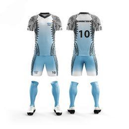 e161cc99b 2019 cheap football soccer Sport jerseys kits Men adult sets quick dry  Breathable football Runing uniforms soccer jersey