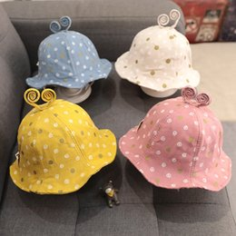 Boys Visor Australia - baby fitted hats girls cute snail pot printed princess hat fisherman hat 1-2 years old boys kids bucket hats cotton designer cap visor