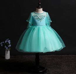618985182720 2019 kids clothes Children s dress skirt girls beaded dress princess flower girl  wedding dress in the big children s clothing
