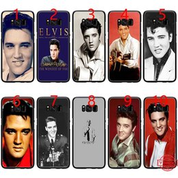 $enCountryForm.capitalKeyWord NZ - Elvis Presley Kiss Soft Black TPU Phone Case for Samsung Note 9 8 S8 S9 Plus S6 S7 Edge Cover