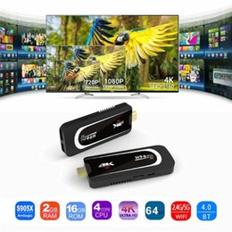 $enCountryForm.capitalKeyWord NZ - New Pro H3 Mini PC Amlogic S905X Quad Core Android 7.1 TV Dongle 2GB 16GB 2.4G 5.G WiFi Bluetooth HDMI HEVC H.265 1080P 4K HD TV Stick Box