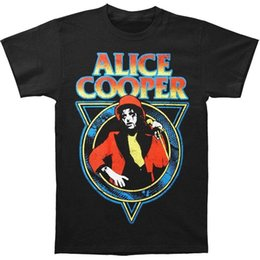 e51ec041687 Alice Cooper Snake Skin Men s Black T-Shirt S-3XL New T Shirt Summer Famous  Clothing Print Cotton High Quality Top Tee