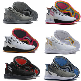 1a697b9dfc7 New D Rose 9 White Gold Men s Basketball Shoes Man Top Quality Derrick Rose  shoes 9s Sports Sneakers designer shoes Size 40-46