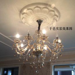 Bedroom Chandeliers Candles Australia - European style crystal fabric chandelier, living room, bedroom, candle, crystal lamp, hotel dining room, crystal chandelier