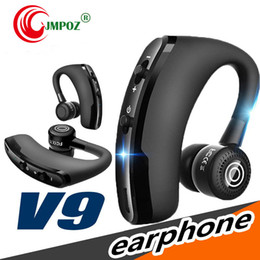 universal high quality wireless bluetooth headset Australia - high quality V9 Wireless Bluetooth Headphones CSR 4.1 Business Stereo Wireless Earphones Earbuds Headset With Mic Voice Control with packag