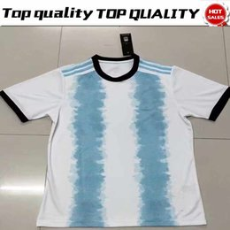 AmericA jerseys sAle online shopping - 2019 Copa America Argentina Home Blue White Soccer Jersey Messi Soccer Shirt Customized short sleeve football uniform Sales S XL