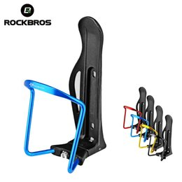 adjustable water cage NZ - ROCKBROS Bike Bicycle Aluminium Alloy Adjustable Water Bottle Cage Mountain Bike Cycling Bottle Holder Rack 4 Colors Accessories #265859