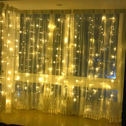 Window Curtain Fairy Lights UK - 6mx1.5m 288 LEDs Christmas Curtain String Lights Fairy Lights Window Icicle Lights Backdrop Lighting for Home Bedroom Garden Wedding Party