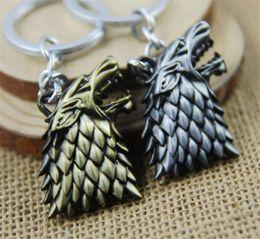 Wolf Pendant Men Australia - Retail Pack Game of thrones stark wolf pendant Keychain key rings bag hangs for women men keyring keychains jewelry 170458