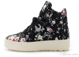 $enCountryForm.capitalKeyWord NZ - Lucky2019 Women Canvas Floral Print Ankle Boots Wedges Shoes 3NX28