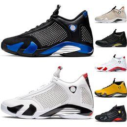 $enCountryForm.capitalKeyWord Australia - AirJordanRetro 14 2019 Designer Candy Cane 14s Men Basketball Shoes Black Mens Trainer Athletic Sport Sneaker Walking Shoe 41-47
