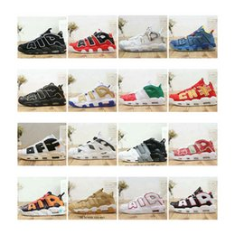 sneaker shoes uk 2019 - Special Price! Cheap Air More Uptempo Mens Basketball Shoes Tri-Color What The UK Italy Doernbecher Red Wheat designer S