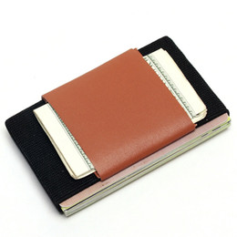 magic wallets for men 2019 - Creative Credit Card Holder With Elastic Band Slim Wallet For Women Man Small Magic Business Card Holder Case Unisex che