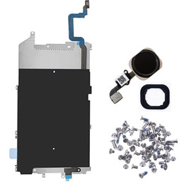 Ring foR iphone home button online shopping - for iPhone Plus LCD Back Plate with Home Button Connection Flex Cable home button key with Rubber Ring full set screws