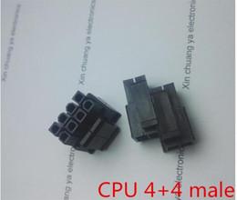 $enCountryForm.capitalKeyWord Australia - 30PCS 1LOT 4.2mm black 4+4pin 8P 8PIN male for PC computer ATX CPU Power connector plastic shell Housing